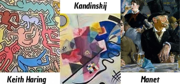 Visita guidate alle mostre su Haring, Kandinskij, Manet